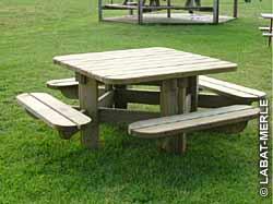 Table de jardin - Fiche produit